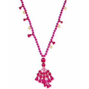 ♠️ Kate Spade Pretty Poms tassel necklace, pink